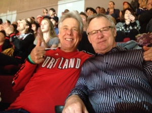 IT'S ALWAYS FUN TIMES WITH STEVE AT THE BLAZER GAMES.