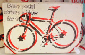 """EVERY PEDAL STRIKES A BLOW FOR FREEDOM"""