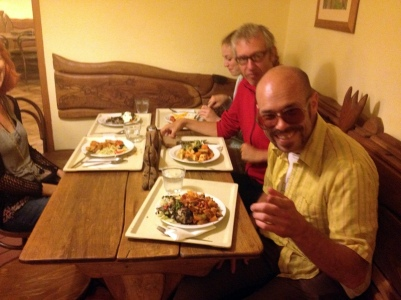 VEGETARIAN BUFFET WITH REV. PHIL AND STANLEY