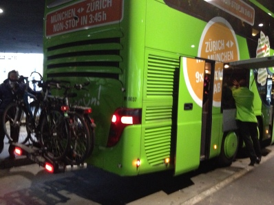 LONG DISTANCE BUSES HAD BIKE RACKS