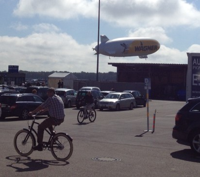 ZEPPLINS FLYING AROUND, 200 EURO FOR 1/2 HOUR RIDE ($265)