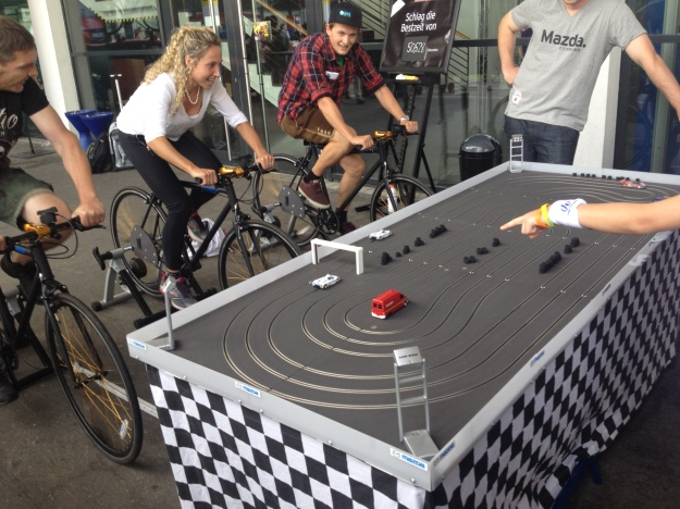 ELECTRIC CAR RACE BY PEDALING