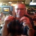 STEVE EATING BBQ