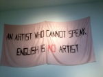 AFTER THE WALL CAME DOWN THIS IS AN ARTIST MESSAGE TO OTHER ARTIST,