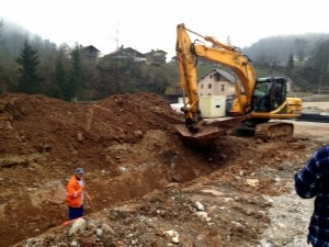TRENCHING TO MOVE WATER FROM THE HILLSIDE