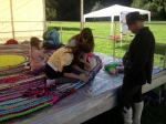 WOOL AND SHEEP SHOW, TRAVELING COMMUNITY RUG, OUR TURN TO ADD TO IT.