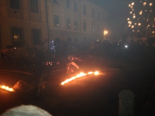FIRE DANCE IN THE SQUARE