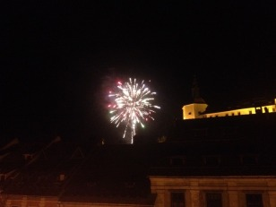 NEW YEARS FIREWORKS OVER THE CASTLE