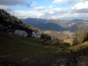 VIEW FROM 6KM UPHILL RIDE TO LUBNICK