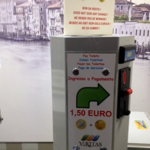 1.50 EURO TO USE THE PUBLIC BATHROOM (($1.75)