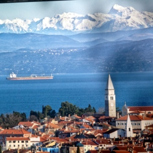 IZOLA WITH TRIGLAV IN THE BACKGROUND, FROM THE MEDITERRANEAN TO THE AUSTRIAN BORDER