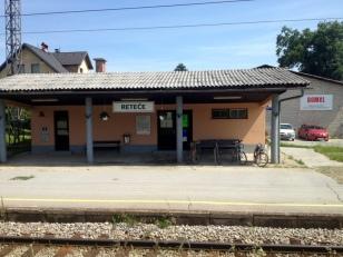 TRAIN STATION ON THE WAY TO LJUBLJANA