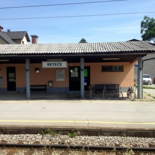 TRAIN STATION ON THE WAY TO LJUBLJANA