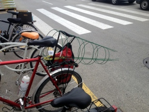 YOU CAN CARRY ANYTHING ON A BIKE, TOMATO CAGES