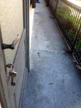 DOOR TO PATIO TO GET TO FRONT DOOR
