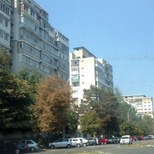 LOTS OF COMMUNIST STYLE APARTMENT BUILDINGS