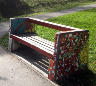 TILED PARK BENCHES
