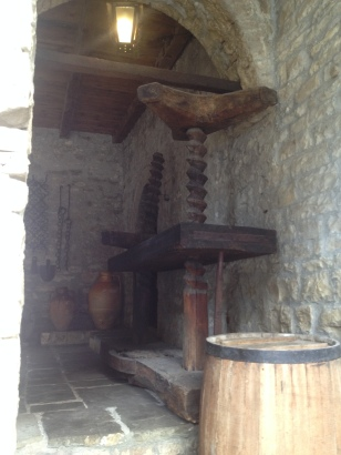 OLIVE OIL PRESS AT ETHNOGRAPHIC MUSEUM