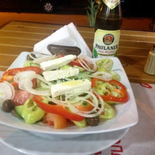 "IT'S GREAT BEING NEAR GREECE-""GREEK SALAD"" 2euro"
