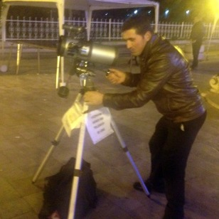 TELESCOPE IN THE SQUARE