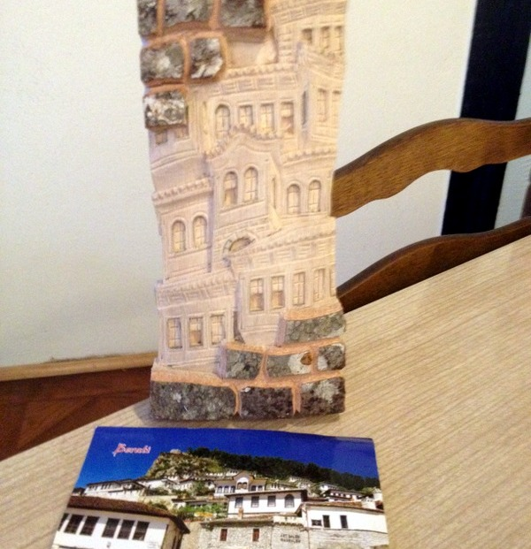 WOOD CARVING FROM BERAT POSTCARD