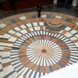 LIBRARY CENTER STONE MOSAIC