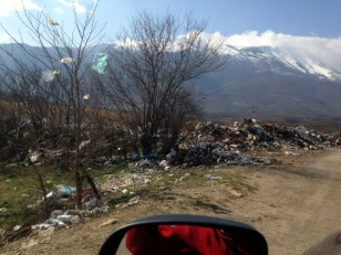 THE TOWN DUMP RIGHT ALONG THE ROAD