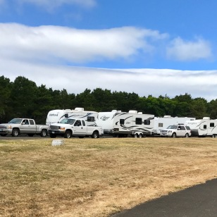 "AMERICAN SIZED CAMPERS LINING UP TO DUMP THEIR ""LOAD"""