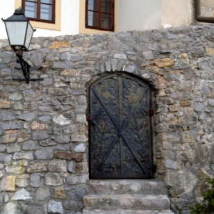 LOVE THE STONE AND STEEL DOOR