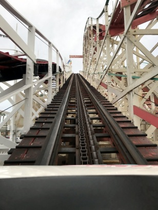 FIRST CLIMB ON ROLLER COASTER